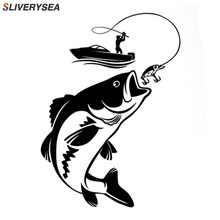 SLIVERYSEA Funny Fishing Fisherman Hobby Fish Boat Car Stickers Vinyl Decal Motorcycle Accessories