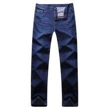 Men slarge size jeans  famous brand blue black male jeans designer classic denim Jeans size 41 42 43 44 45 46