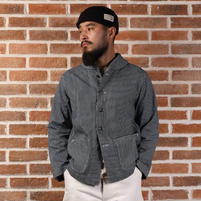 Read Description! Asian Size Bronson Cotton Stripe Denim Jacket USN Deck Denim Jacket