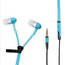 Новые металлические стерео наушники на молнии с басами 3,5 мм проводные наушники с микрофоном для смартфона