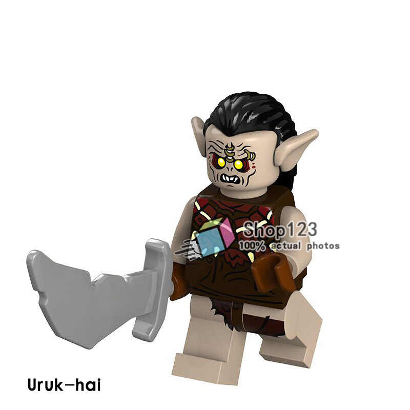 PG536 Enkele Verkoop De Lord of The Rings Uruk-hai Bricks Educatief Bouwstenen Voor Kinderen DIY Speelgoed Gift