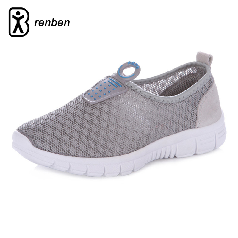 RenBen Air mesh Breathable Women Casual Shoes Flats Loafers Female Footwear Durable Rubber Creeper Beach Ladies Summer Shoes