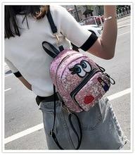 Mini Backpacks for Girls Sequin Backpack School Bags for Teenage Girls  Backpack Women Mochila Feminina Cute Women Rugzak Lady 2017 harajuku hot anime kawaii tonari no totoro printing denim mini backpacks for girls mochila school bags women backpack