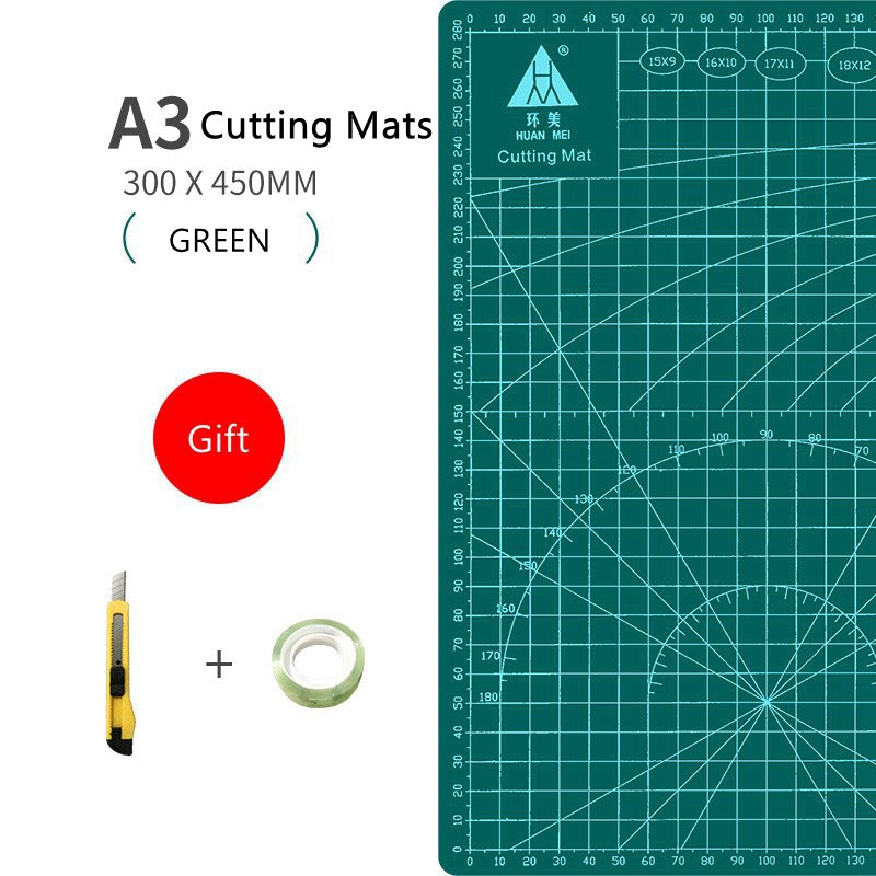 A3 Cutting Mat A3 Pvc Multipurpose Self Healing Cutting Mats Diy Tool Cutting Board Double Sided Durable Paper Mat