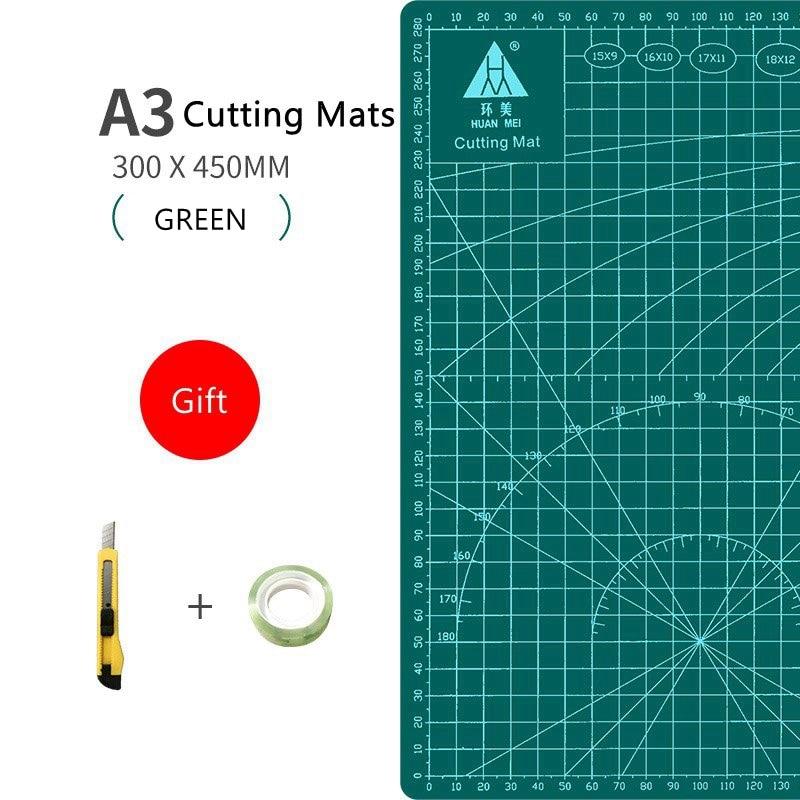 A3 Cutting Mat PVC Multipurpose Self Healing Mats DIY Tool Board Double-sided Durable Paper