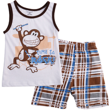 Cartoon monkey Toddler Kids Baby Boys Summer Outfits T-shirt