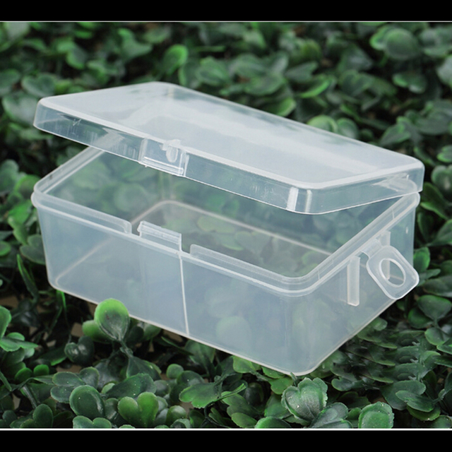 Mengxiang r555 rectangular peque a caja transparente de - Caja plastico con tapa ...