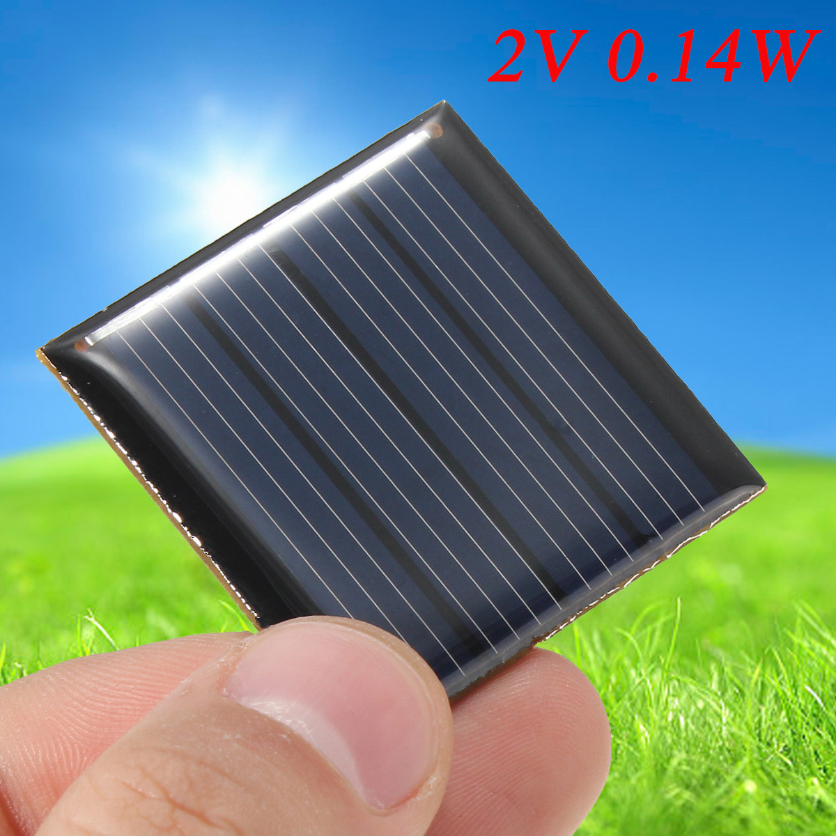 LEORY Solar Panel Kit 2V 0.14W 70mA Solar Charger Mini DIY 1.2V Battery Charger Module Epoxy PV Polycrystalline Cells 40*40*3mm