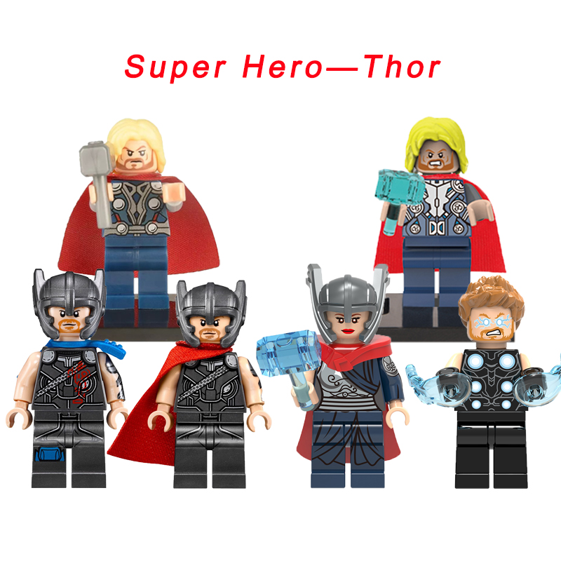 Thor Super Heroes Jane Foster The Avengers/Age Of Ultron/Ragnarok Arena/Infinity War Action Figure Building Blocks Toys For Kids 1 6 scale avengers age of ultron wanda scarlet witch full set action figure war version for collections
