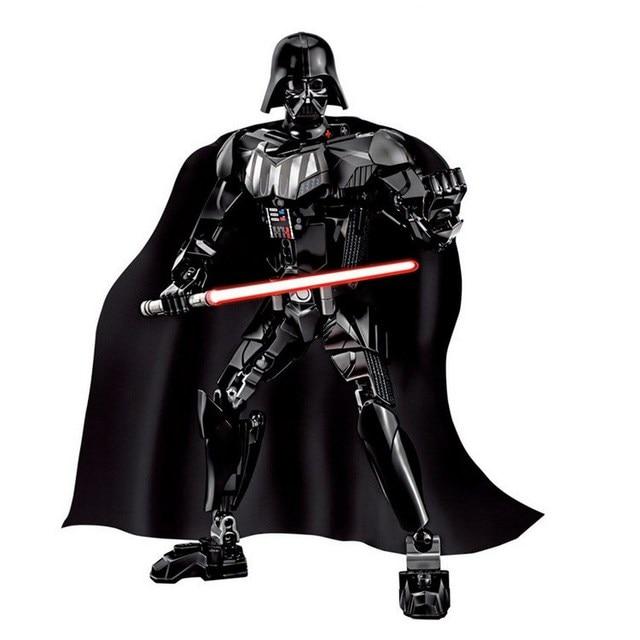KSZ Star Wars 7 Kylo Ren Darth Vader with Lightsaber Storm Trooper Building Blocks Figure Toys For Children Compatible Legoe