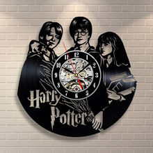 Harry Potter Hermione Granger Movies Vinyl Record Clock CD Record Clock Creative and Classic Room Art Decor Handmade LED Clock potter j hopkins home level 3 cd