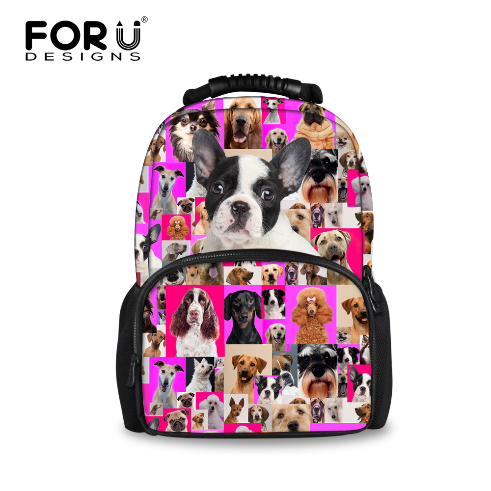 ФОТО FORUDESIGNS Cute 3D Animal Backpack Women Travel Big Bag Boston Terrierl School Bagpack for Teenager Girls Large Mochila Escolar