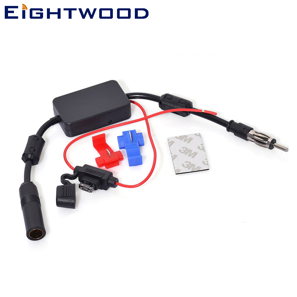 Eightwood Universel 12 V Auto Voiture Radio AM FM Antenne Aérienne Véhicule Audio Amplificateur Booster pour Pioneer Kenwood JVC 330mm
