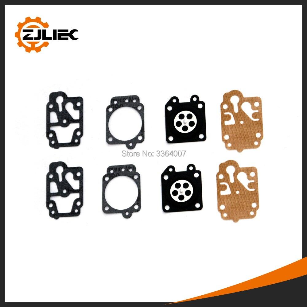 5 комплектов карбюратор для ремонта подходит для 40-5 1E40F-5 1E44F-5 кусторез 430 cg260 cg330 cg430 cg520 cg139 триммер карбюратор ремонтная прокладка