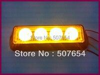 Free Shipping High Quality 4pcs GENIII 1W Led Grille Light Led Headlight Led Warning Light 18flash