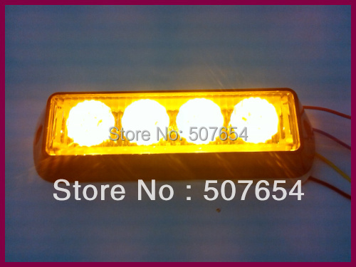 ФОТО Free shipping! High quality DC12V 4W Led Grille light /Led lightheads/led warning light, 18flash pattern,IP66 waterproof
