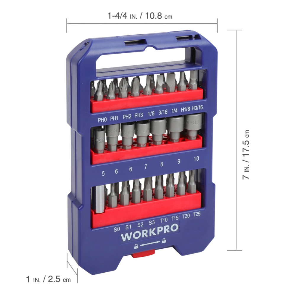 Image 3 - WORKPRO 51 piece Screwdriver bits Set multi bits set with Slotted Phillips Torx Hex Bits and Nut DriverScrewdriver   -