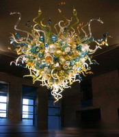 Luxury Chandelier Lighting Elegant Large Custom made Size and Color 110v/240v Multi Color Murano Glass Modern Led Chandelier