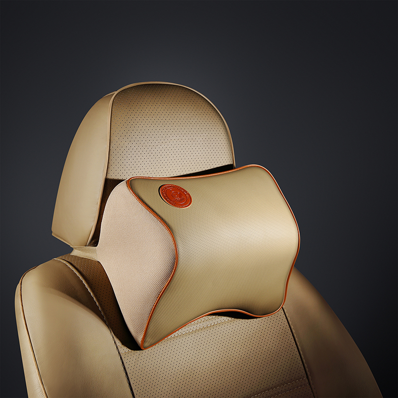 High quality Car Seat Soft PU Neck Pillow Headrest Car styling For Hyundai Mazda LADA BMW Toyota Audi Sline JMD Seat Accessories in Neck Pillow from Automobiles Motorcycles