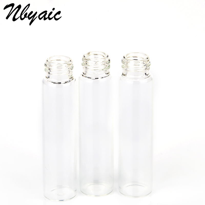Nbyaic 5Pcs Portable Mini Perfume Bottle Glass Empty Bottle Cosmetics Bottled Toner Spray Bottle Nebulizer 2ml 3ml 5ml 10ml 5
