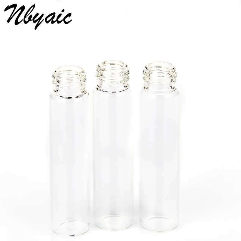 Nbyaic 5 uds Mini botella de Perfume portátil Cristal de botella vacía cosméticos tóner embotellado Spray botella nebulizador 2ml 3ml 5ml 10ml