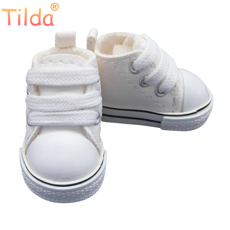 Tilda 5cm Mini Toy Shoes 1/6 BJD Shoes For Dolls,5 CM Cute Sneakers Shoes For EXO 20cm Plush Dolls Toy KPOP Power Accessories