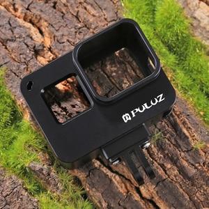 Image 5 - PULUZ для GoPro NEW HERO/HERO7 Black/6/5 корпус с ЧПУ Алюминиевый сплав Защитная клетка и страховая рамка