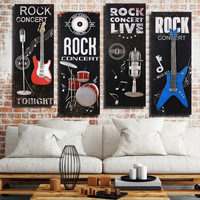 Retro Wrought Iron Decorative Painting Car Guitar Musical Instrument Hanging Paintings Do Old Crafts Wholesale Jewelry