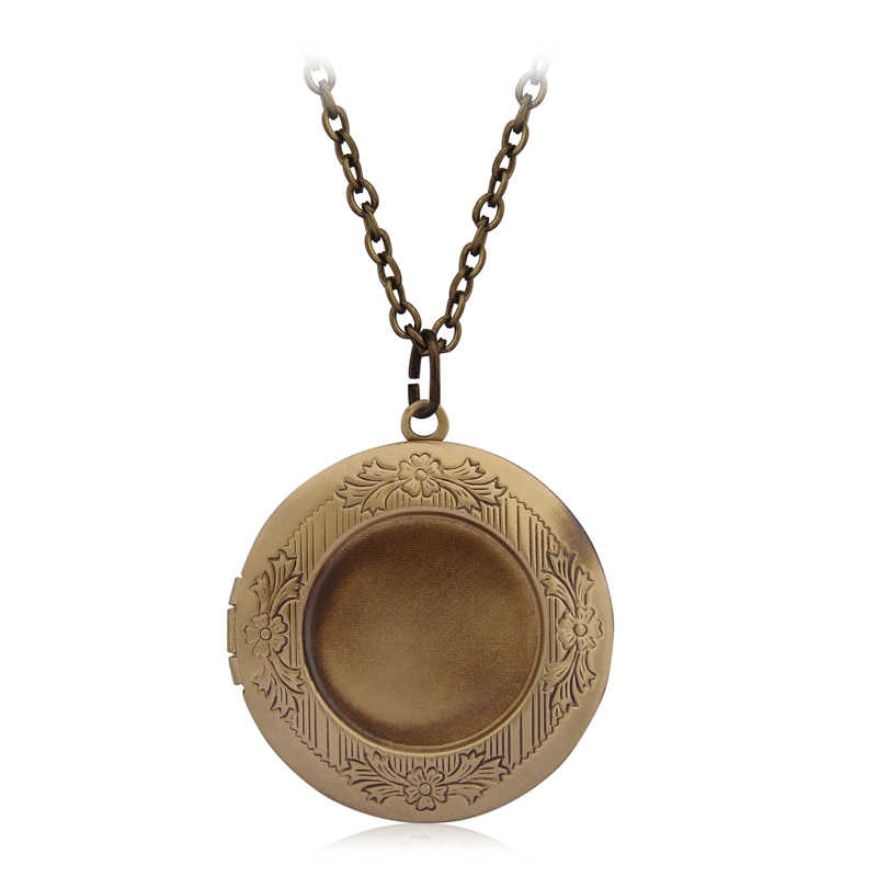 6 цветов DIY секретное сообщение винтажное ожерелье с медальоном Бронзовый Резные подарок для жены влюбленных пар античный замок надпись на заказ