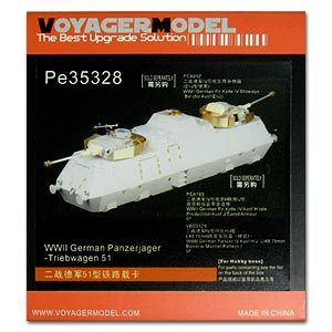 KNL HOBBY Voyager Model PE35328 Germany 51 type railway armored train upgrade metal etching parts