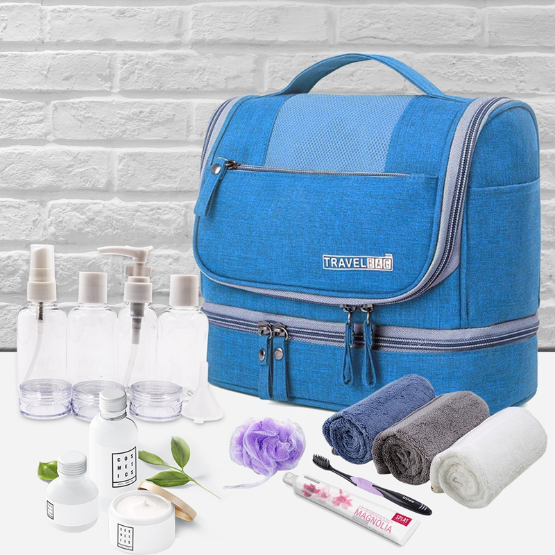 Large Capacity Storage Bags Women Travel Storage Organizer Cosmetic Bag Makeup Tools Organizer Carry Toiletry 5 Colors in Storage Bags from Home Garden