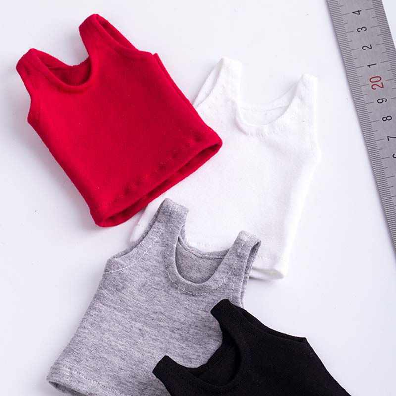 Mnotht 1/6 Scale Toys Sleeveless T-Shirt Bottoming Shirt 4 Color Soldier Clothes Model For 12in Action Figure Collection Toy M3