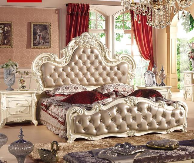 Korean Bedroom Furniture Garden Princess Room 1.8m Bed Door Wardrobe  Dressing Table Stool