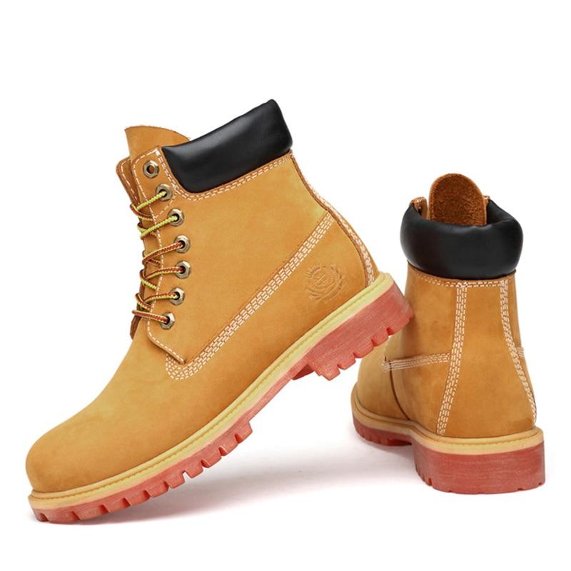 كبيرة الحجم: 36 47 بوط من الجلد الطبيعي الرجال للماء البقر المدبوغ رجل الشتاء الأحذية حذاء كاحل برباط الثلوج أحذية فائقة الجودة الرجال-في أحذية برقبة أساسية من أحذية على  مجموعة 3