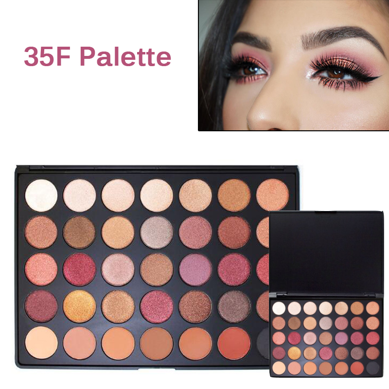 New Pro 35 Color Eyeshadow Makeup Palette Warm Color 35F FALL INTO FROST PALETTE Shimmer and Matte Eye Shadow Cosmetic Set newest 350 palette 35 color eyeshadow palette earth warm color shimmer matte eye shadow cosmetic beauty makeup set 35w 35k 35f