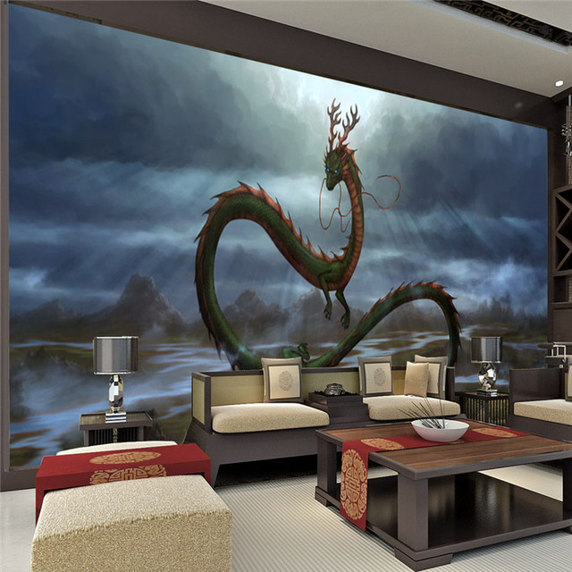 Vintage Dragon Wall Mural 3d Wallpaper Cartoon Animation Photo