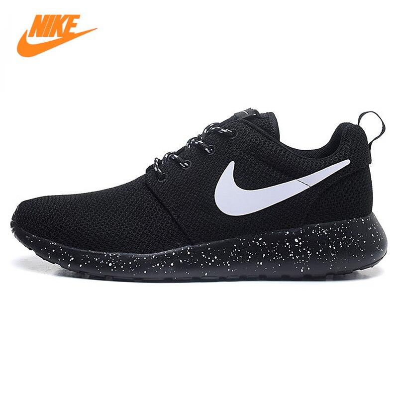 Nike Для Мужчин's Roshe Run Mesh дышащая Кроссовки, оригинальный Новое поступление Аутентичные Для мужчин Спорт Спортивная обувь кроссовки Обувь