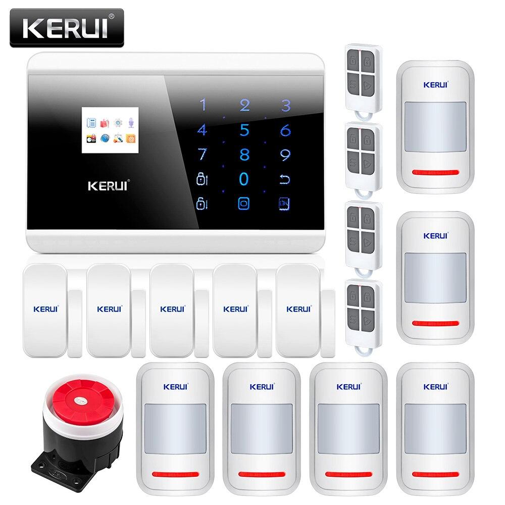 imágenes para KERUI 8218G APP IOS Android GSM PSTN Dual Wireless Home Seguridad Sistema de Alarma Táctil Voz Inglés Ruso Español Francés teclado