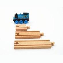Деревянный трек для поезда, аксессуары для железной дороги Томаса, игрушки для железной дороги, совместимые с деревянными поездами, универсальные аксессуары для железной дороги DIY