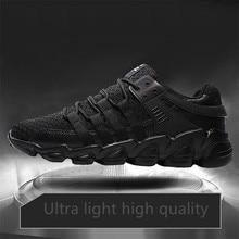 FANCIHAWAY Size39-48 2018 Nuevas zapatillas para hombre Primeknit Sneakers Cómodo y transpirable Marca Ourdoor Sport Shoes Dampping