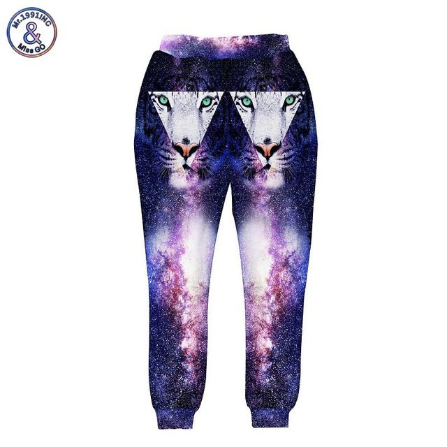 Mr.1991INC Nice 3d pant men/women long trousers harajuku creative print star space Triangle Tiger trees galaxy joggers