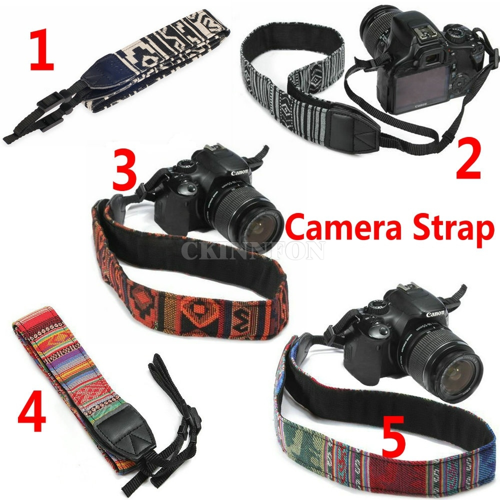 DHL 100PCS Vintage Camera Shoulder Neck Belt Strap For Camera