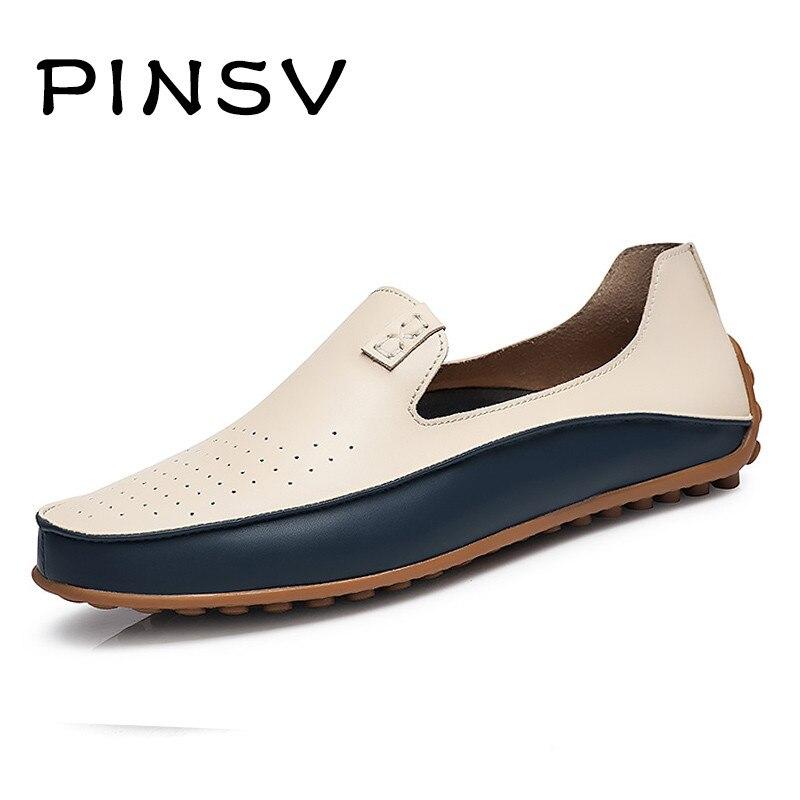 Tamaño grande 38-47 Zapatos Casuales Hombres Mocasines Slip On Zapatos de Los Ho