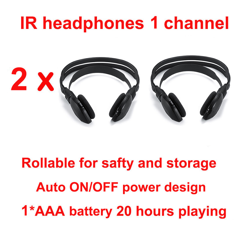 G800 30pcs-Stes-of-Two-Channel-Folding-Universal-Rear-Entertainment-System-Infrared-Headphones-Wireless-IR-DVD-Player-000