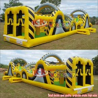 KK New Backyard Giant Inflatable Obstacle Course Equipment Portable Toy