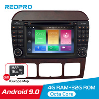 7 Android 9.0 Car DVD Player GPS Navigation For Benz SCL Class S320 S350 W220 W215 CL600 1998 2005 Audio Video Radio Multimedia