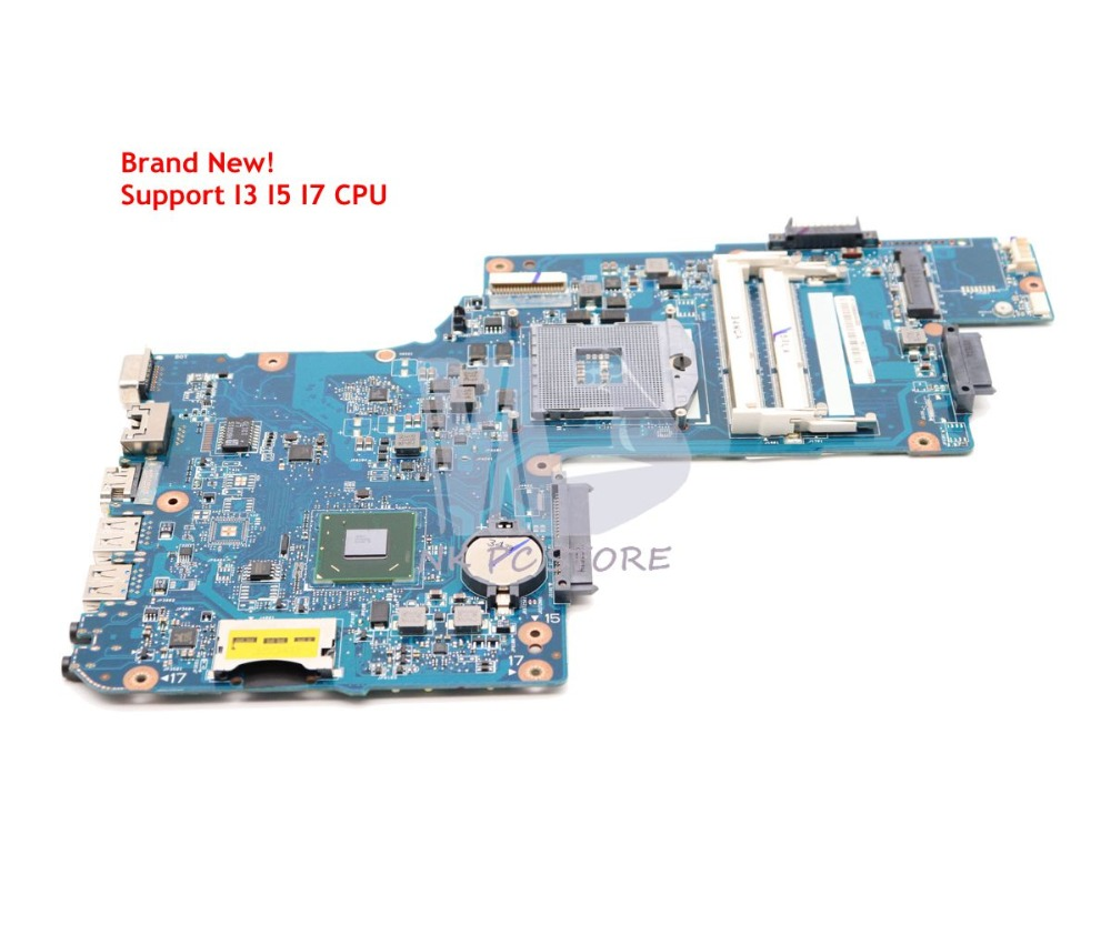 NOKOTION New H000038360 MAIN BOARD For Toshiba Satellite C850 L850 Laptop Motherboard HM76 UMA DDR3 Support I7 nokotion h000041530 laptop motherboard for toshiba satellite l850d c850 c855 plac csac uma main board socket fs1 ddr3