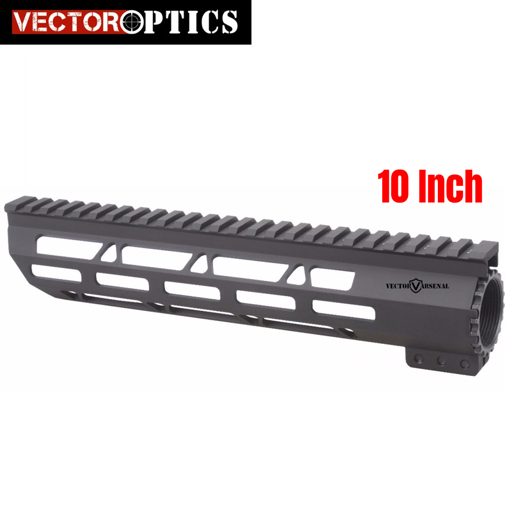 Vector Optics Tactical Slim M-LOK 10 inch Free Float Handguard Picatinny Rail Mount Bracket fit 223 5.56 AR 15 M4 M16