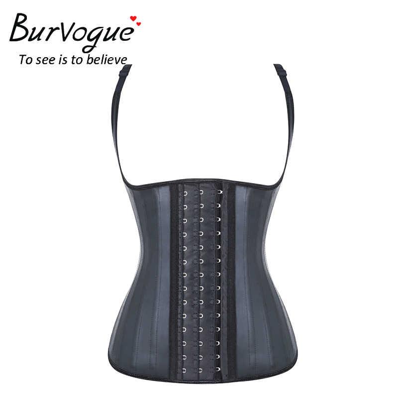 Burvogue корсет, поясной корсет из латекса для женщин 25 стальной костяной ремень Cincher корсет моделирующий ремень корсаж бюстье и корсеты Плюс Размер