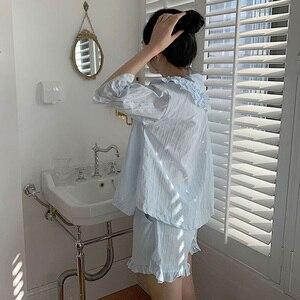 Image 4 - קיץ נשים של לוליטה נסיכת פיג מה סטים. חולצות + מכנסיים קצרים. בציר גבירותיי ילדה של תור למטה צווארון פיג סט. הלבשת Loungewear